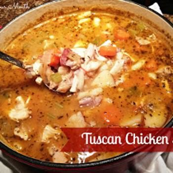 Tuscan Chicken Stew, with some great bread for dipping!