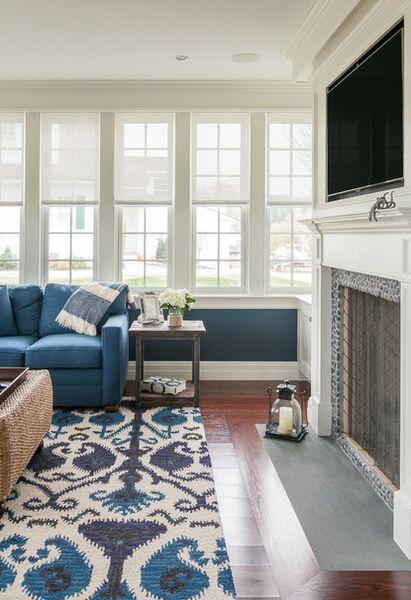 Синий цвет в интерьере от JS Interiors LLC.