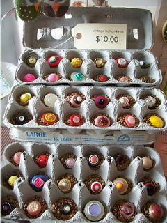 egg carton ring display