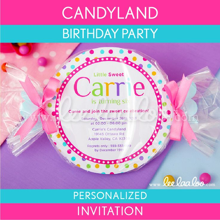 candy popsicle invitation template free - Google Search