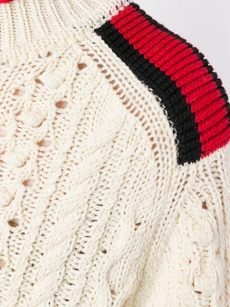 Isabel Marant , cardigan stitch shoulder detail