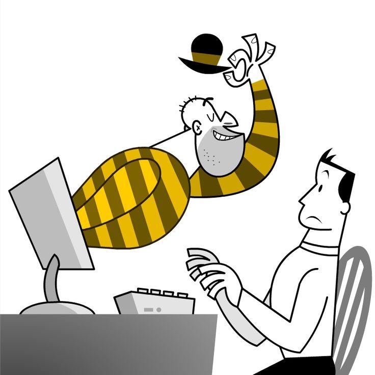 Illustrazione per manuale - Sicurezza su internet