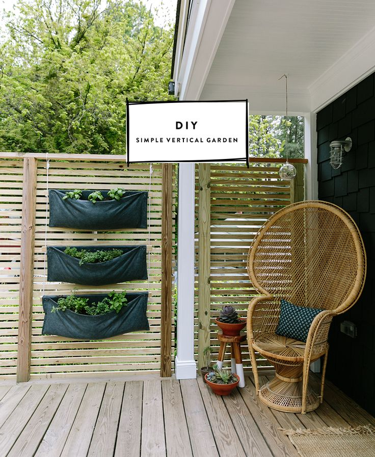 DIY Simple Modern Vertical Herb Garden The
