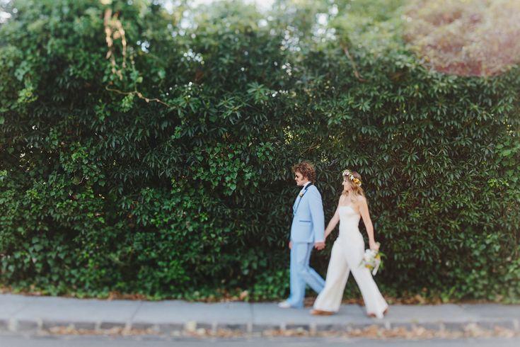 http://www.jonathanong.com/journal/ Ben and Erin. Backyard Wedding 70s style.