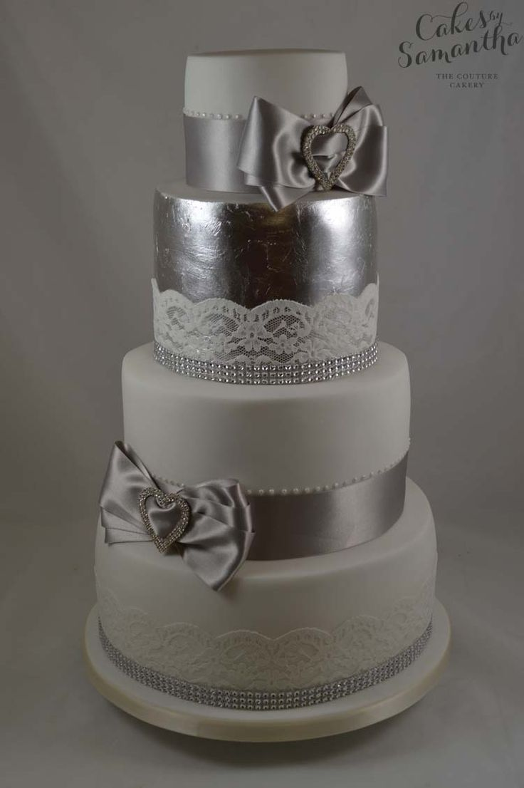 1000 Images About Silver Leaf Cakes On Pinterest