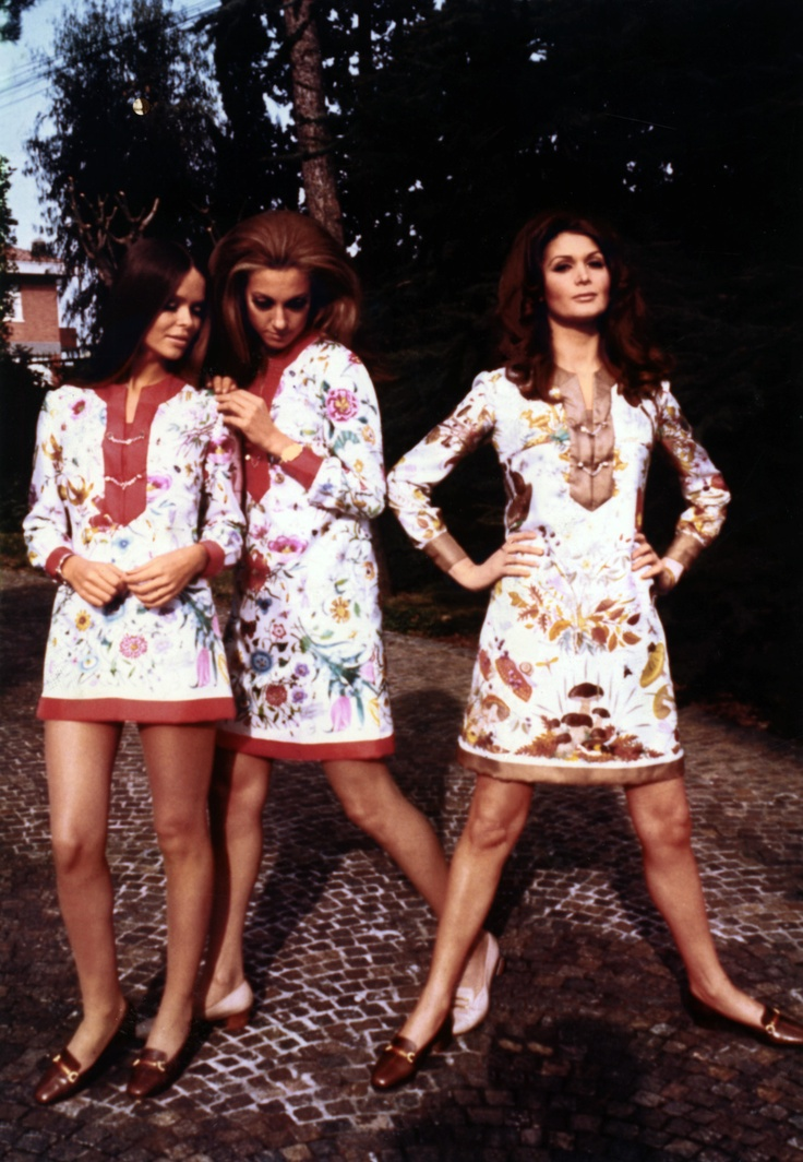 Gucci Flora Advertising Image 1970s 1960s Fashion