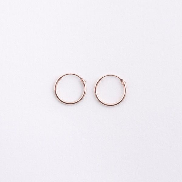 Gorgeous & dainty, these small rose gold hoop earrings are great for everyday. Rose gold plated Sterling Silver, these tiny hoops are minimal and chic.