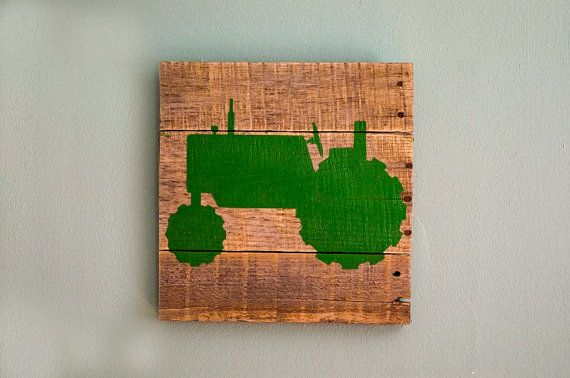 Tractor and Deer Wall decor, simple idea, but cute!