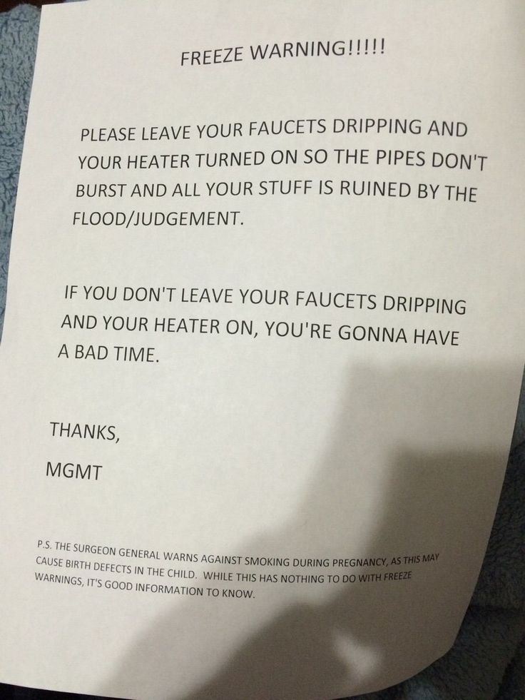 Funny Memes - [My landlord likes to have fun with freeze warnings.]