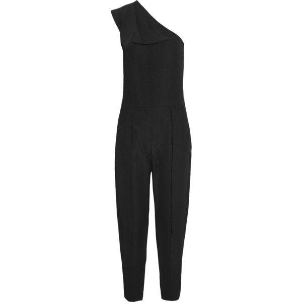 Stella McCartney Ariel one-shoulder python-jacquard jumpsuit (€325) ❤ liked on Polyvore featuring jumpsuits, jumpsuit, stella mccartney, dresses, black, snake print jumpsuit, loose fit jumpsuit, one sleeve jumpsuit and jump suit
