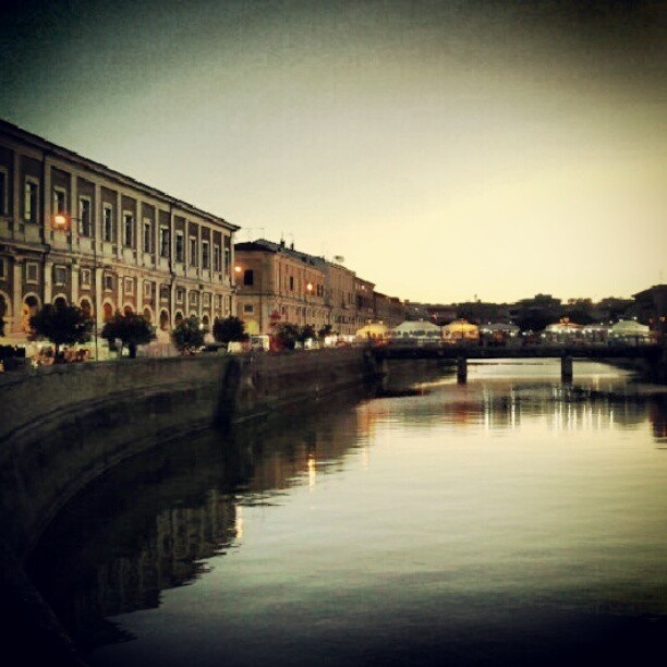 Senigallia center (Portici Ercolani & Misa river) during Sant'Agostino's fair - @tempestaj- #webstagram