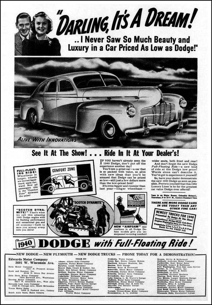 https://flic.kr/p/Z6opjg | Advertising For The 1940 Dodge Automobile In The Wisconsin Jewish Chronicle Newspaper, October 20, 1939