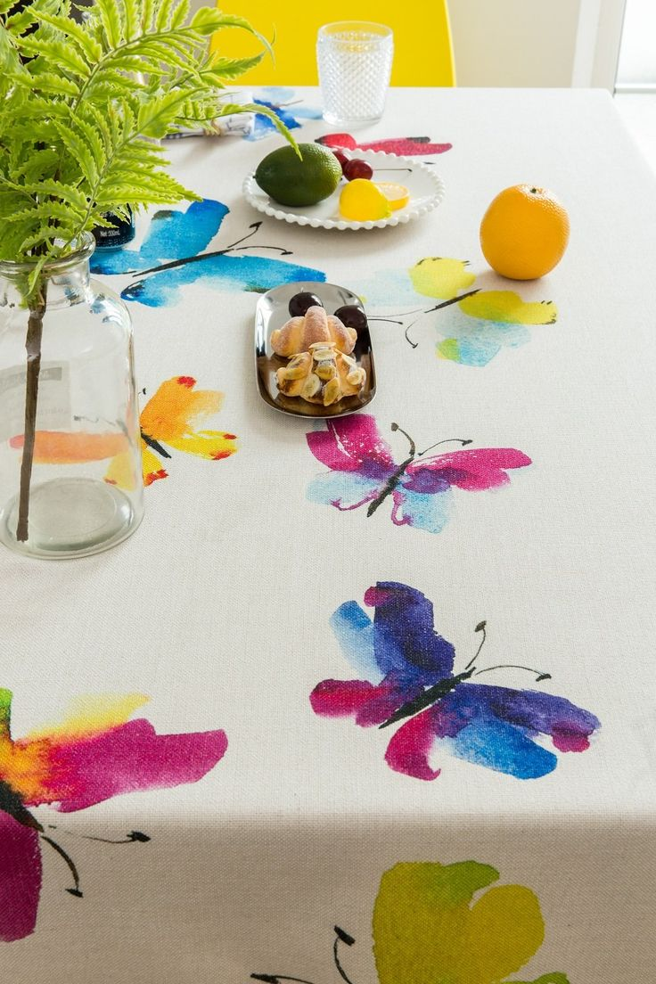 Watercolor Butterfly B Indoor / Outdoor Tablecloth