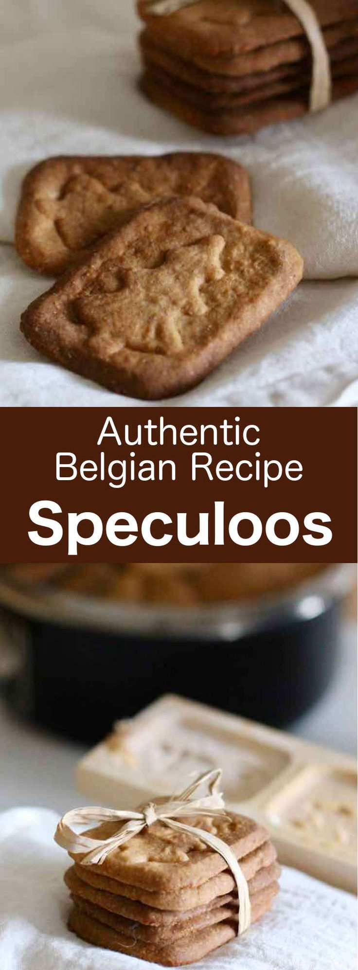 Speculoos are delicious and traditional St. Nicholas cookies from Belgium, with a distinct spiced flavor which can now be enjoyed all year. #Belgian #Belgium #BelgianRecipe #BelgianCuisine #Dutch #Holland #Netherlands #DutchCuisine #DutchRecipe #Christmas #ChristmasRecipe #StNicholas #SaintNicholas #SaintNicolas #WorldCuisine #196flavors