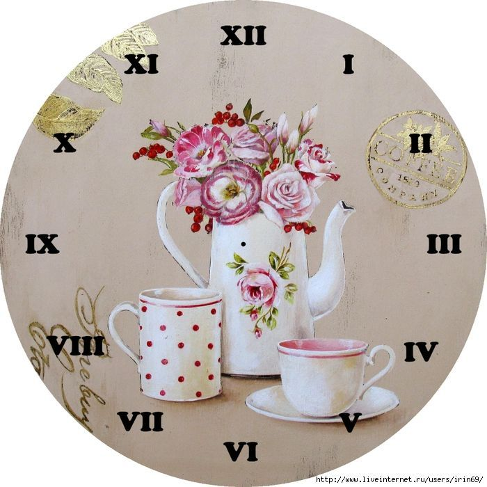 71 best relojes para imprimir images on pinterest wall - Reloj pared vintage ...