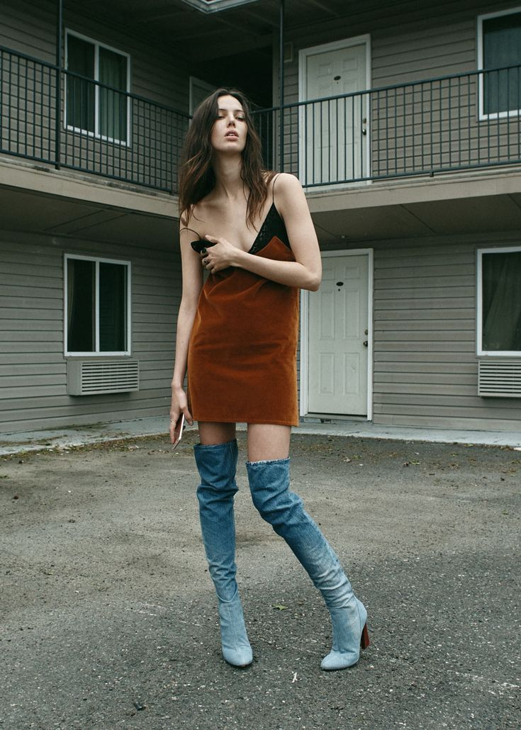 Dress <strong>Au Jour Le Jour</strong> Boots <strong>Mugler </strong>