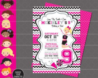 Cheerleading Invitation Cheerleader Invitation