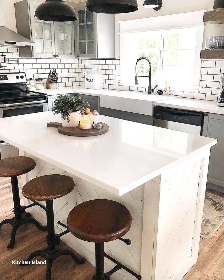 New Kitchen Island Decoration Farmhouse Kitchen Design Kitchen Remodel Small Kitchen Island Decor