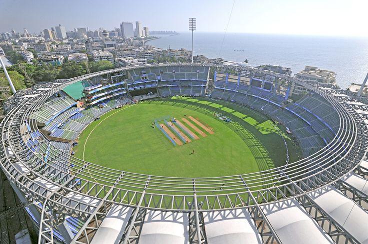 The Wankhede Cricket Stadium, Mumbai, India.
