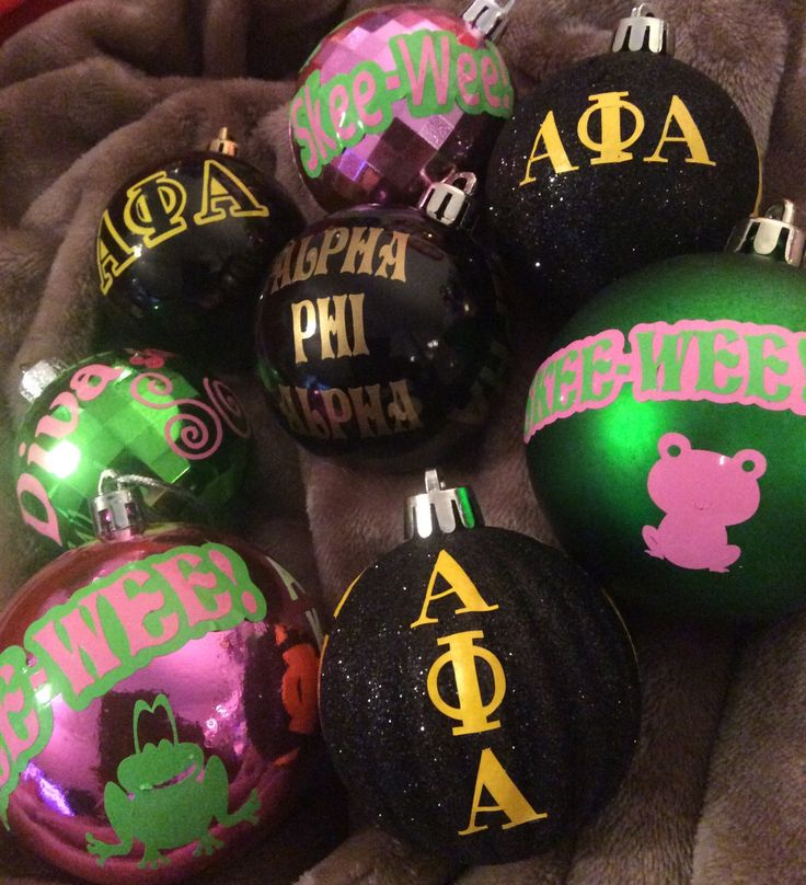Phirst Family Ornament Set AKA (Also Known As) Alpha Phi Alpha Kappa Combo by AddiCakeCreations on Etsy