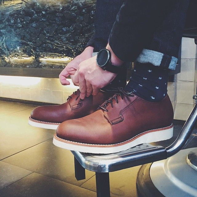 Today @melchiorswaanswijk started to get ready for the summer with his brand new pair of Red Wing Shoes 3101 Postman in Amber Harness. Are you Red Wing Shoes fans ready for the summer? | www.redwingamsterdam.com |