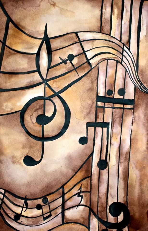 Music notes artwork. #music #artwok #musicart www.pinterest.com/TheHitman14/music-art-%2B/