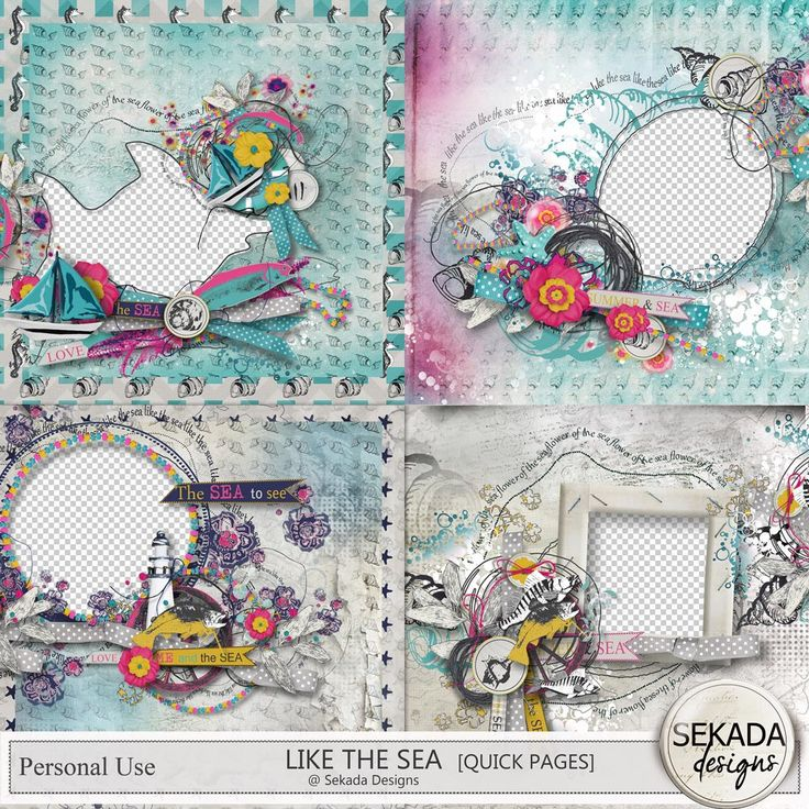 Personal Use :: Quick Pages :: Like The Sea - Quick Pages