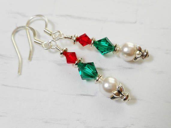 Festive Swarovski Crystal Beaded Earrings