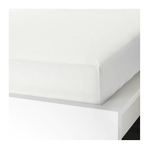 IKEA - УЛЛЬВИДЕ, Простыня натяжная, 90x200 см, , Мягкая ткань из хлопка/лиоцелла обеспечивает эффективное испарение влаги и комфорт во время сна.Плотная, прочная и мягкая ткань.Натяжная простыня на резинке подходит для матрасов толщиной до 26 см.