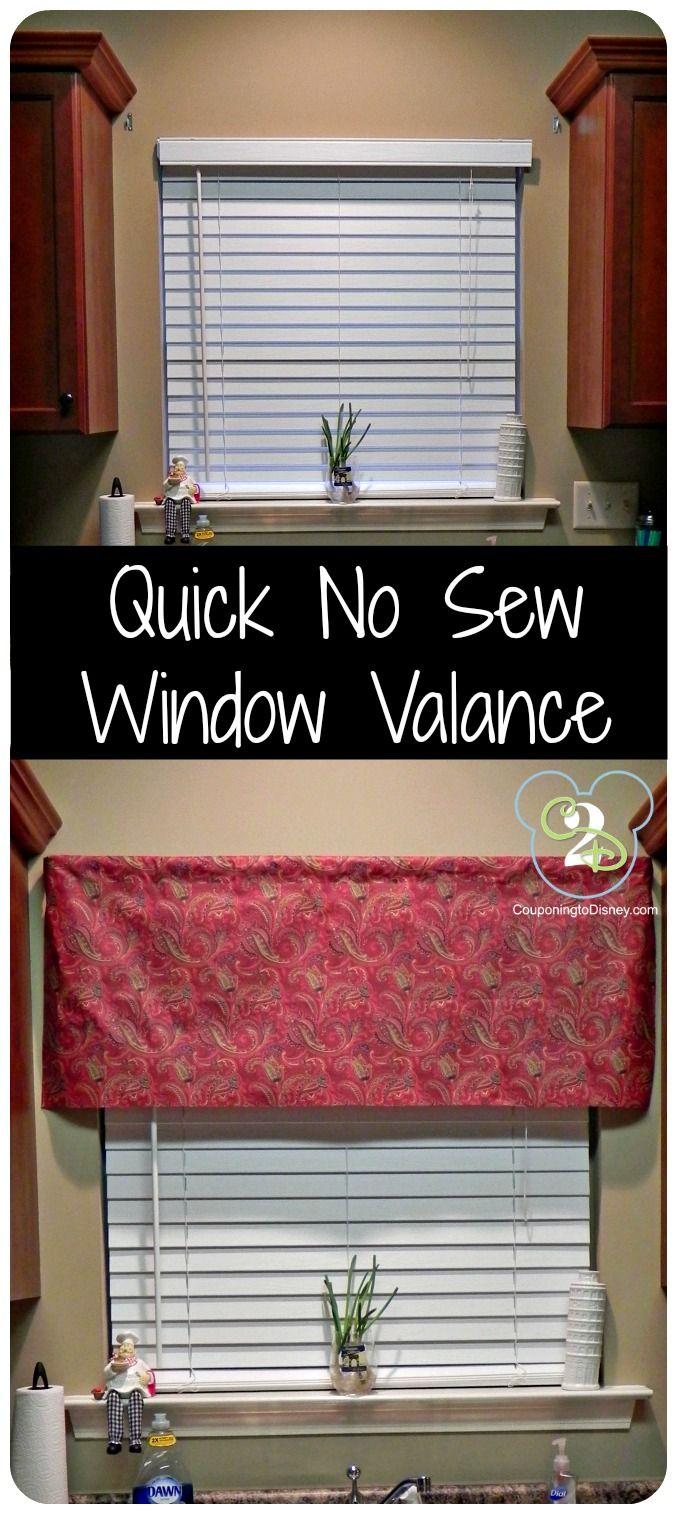 No Sew Curtains Best 20 No Sew Valance Ideas On Pinterest Kitchen Curtains