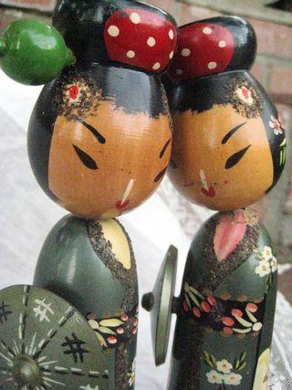 antique kokeshi dolls