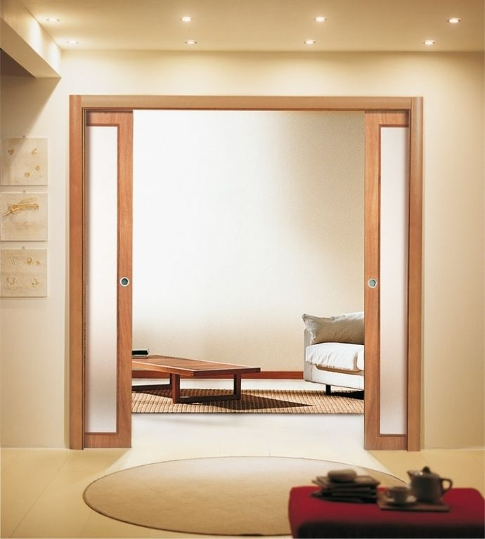 glass pocket door single