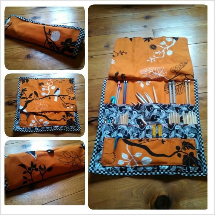 Tasche für Stricknadeln. Sobald ich nähen kann, wird das als eines der ersten Projekte für meine Stricknadeln gemacht.