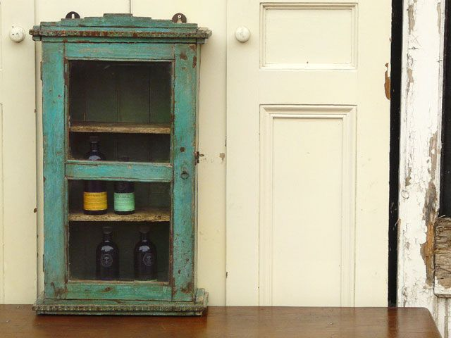 vintage turquoise medicine cabinet  For The Home  Pinterest