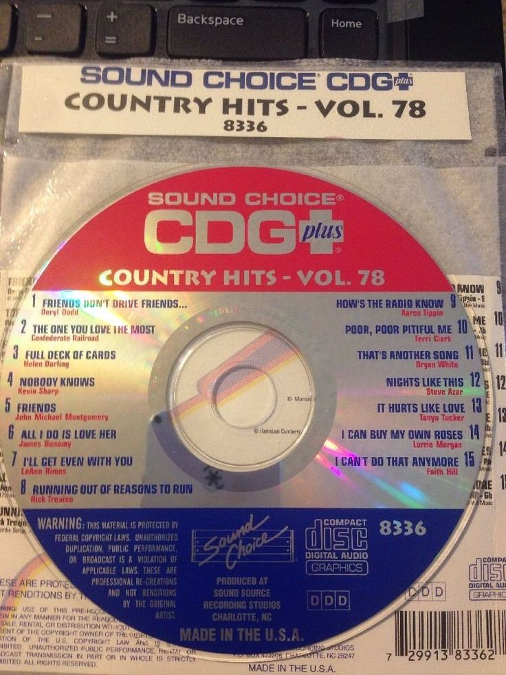 Sound Choice CDG Laser Disc Karaoke #8336 Country Hits Volume #78 #SoundChoice