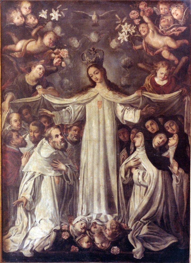 Virgen de la Merced amparando a la Orden Mercederia. Autor: José del Cobo Guzmán. S XVIII