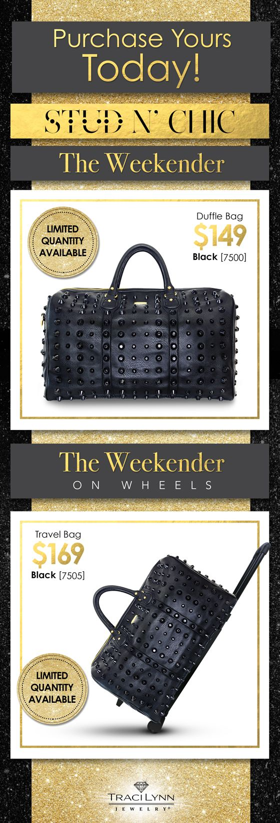 Traci Lynn Fashion Jewelry THE WEEKENDER!!! Great for Traveling, Sport Bag, Business Supplies Limited Quantity Www.tracilynnjewelry.net/party/BlingSanta