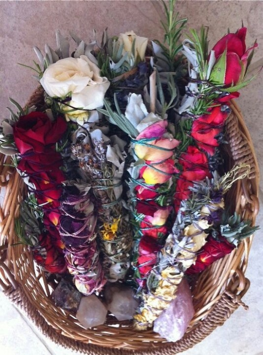 Floral smudge sticks. Perfect for old and drying/dying flower petals.