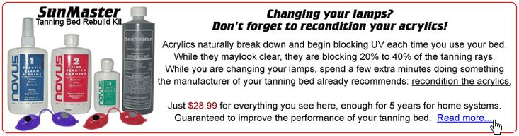 Get the most out of your tanning lamps