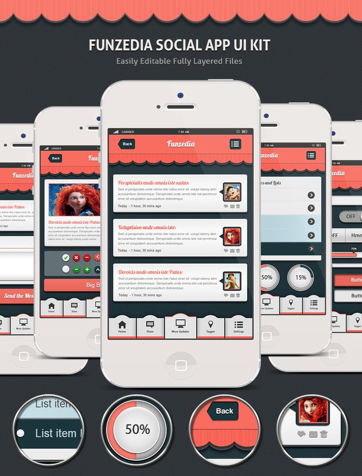 Really brilliant App UI kit with razor sharp quality!