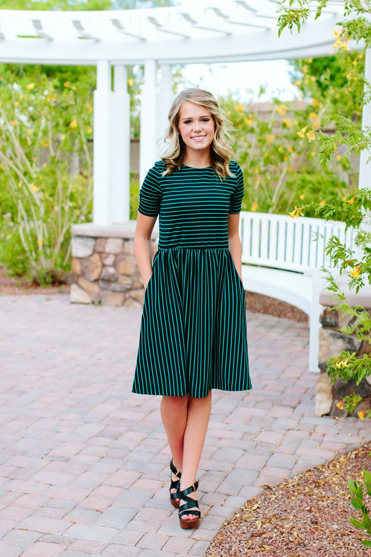 JADE + BLACK STRIPE MIDI DRESS-Pink Desert