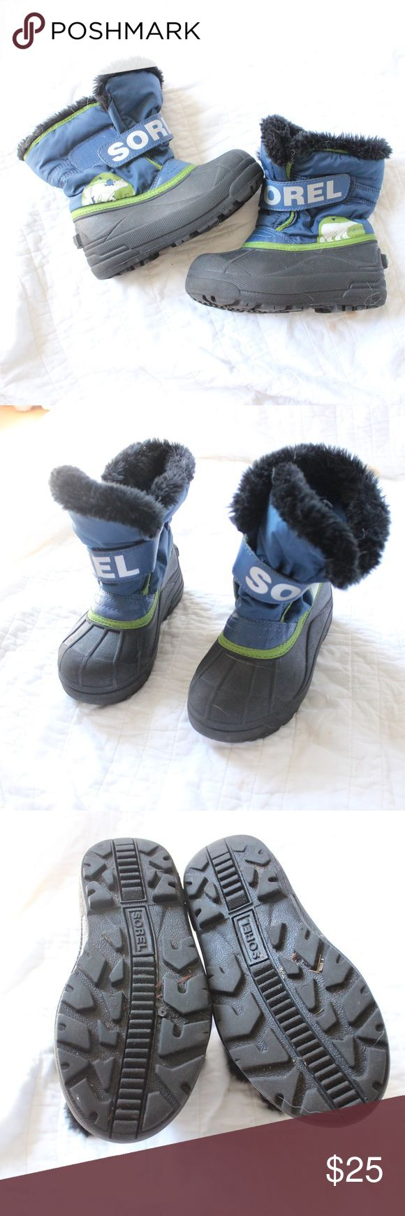 Boys Sorel Snow Faux Fur Lined Boots Boy's Sorel boots with faux fur lining. In good condition…the outside is a little faded.  Measurements available upon request.  All orders shipped same or next business day! Sorel Shoes Rain & Snow Boots