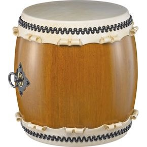 This is a Pearl Miya Taiko drum that is modeled after the ones from 5th Century Japan.  Staved oak body and premium cowhide make this thing look and sound awesome!