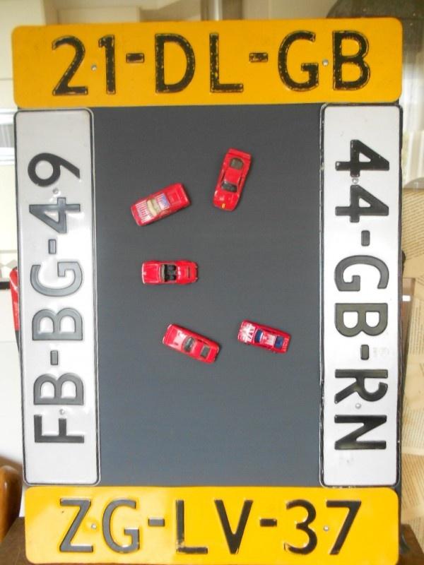 Magneetbord kenteken auto