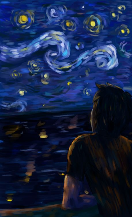 "'Bob says hello,' he told the stars. THIS PART. CRIED SO HARD :""( this picture is very beautiful."