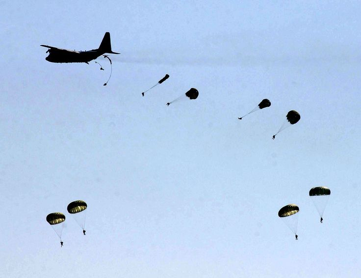 82nd Airborne Division paratroopers jump. My husband misses this SO much :(