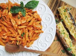 Chicken and Penne in Vodka Cream Sauce   Serious Eats : Recipes