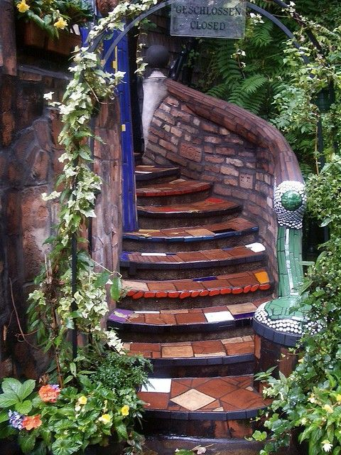funky outdoor stairs