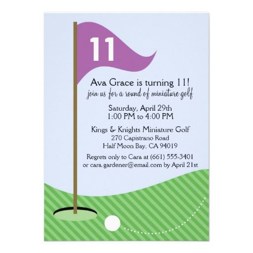 16 best mini golf birthday invitations images on pinterest orchid lets par tee miniature golf birthday party invitation stopboris Gallery