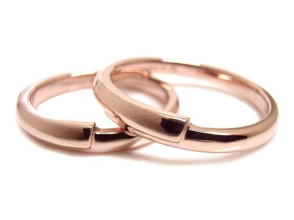 AMBRACE K18 pink gold ring stylish round curve ピンクゴールド ペアリング スタイリッシュ ラウンド カーブ